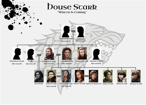 House Stark Family Tree by Best 25 Stark Family Tree Ideas On Jon Snow
