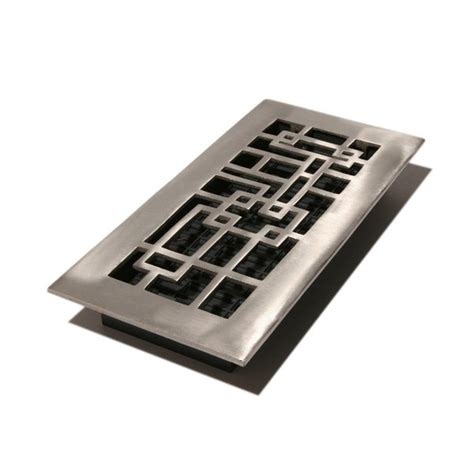 Decorative Floor Registers by Decor Grates Aba Arts Crafts Aluminum Nickel Finish Floor Register 8 Pack Atg Stores