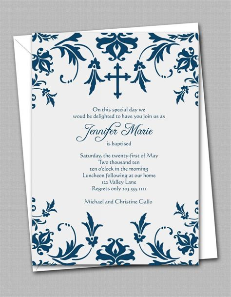 Free Printable Confirmation Invitation Templates Free The Invitations Template