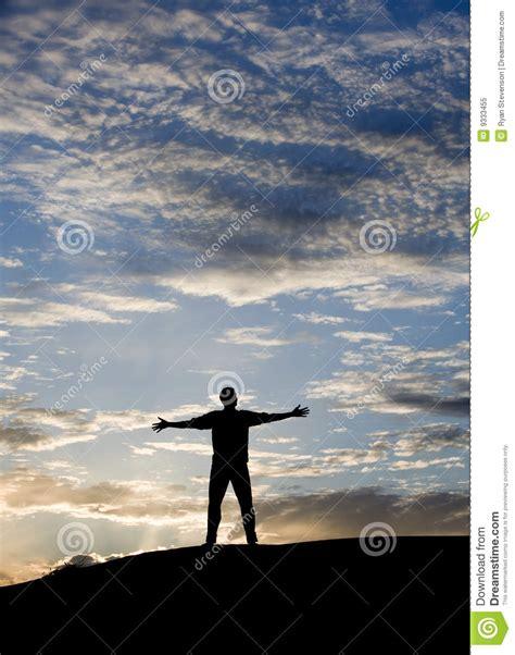 mundo do homem espiritual imagem de stock royalty free sucesso do por do sol foto de stock royalty free imagem