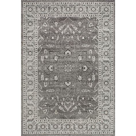 Nuloom Vintage Abbey Blossom Dark Grey 8 Ft X 10 Ft Area 10 Foot Area Rugs