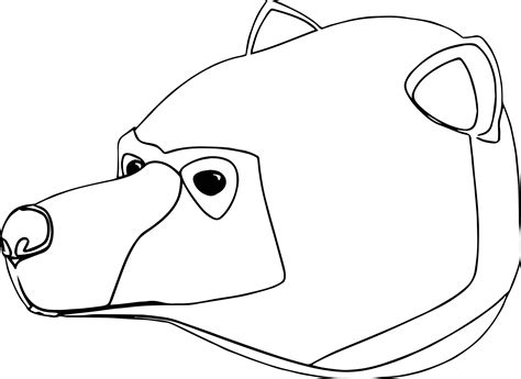 coloring page of a bear head bear big head coloring page wecoloringpage