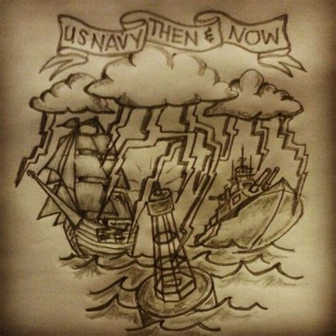 us navy tattoo sketch by ranz pinterest navy tattoos