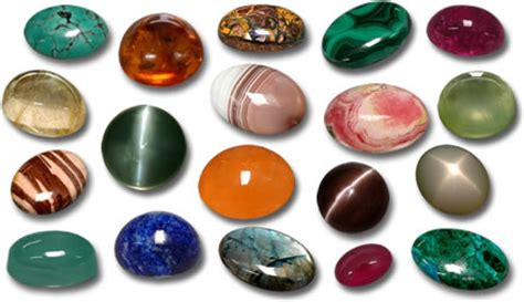 cabochons gemstones variety of colorful cabochons