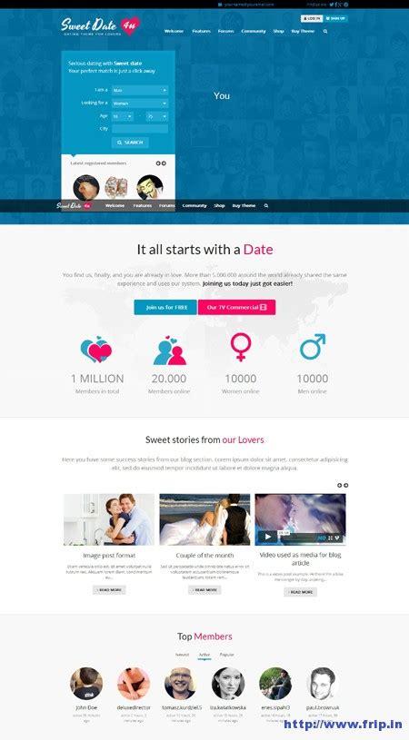 download theme line winter date wordpress dating theme free download