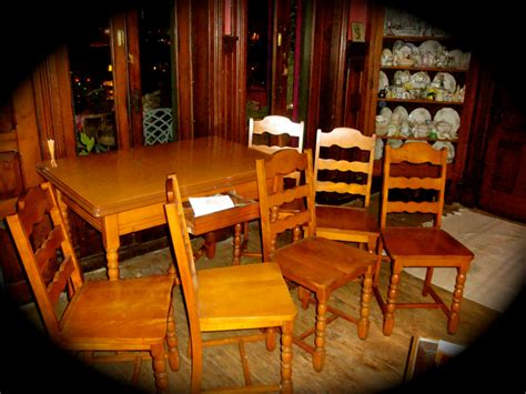 1940s Dining Room Furniture 1940s Table Chairs Kitchen Dining Room Set By Thatrosemarie