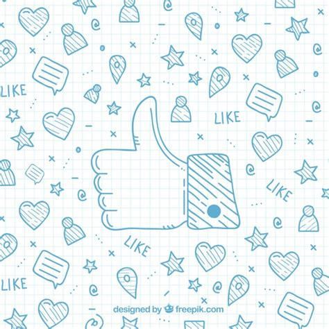 facebook layout vector free download cartoon background with facebook icons vector free download