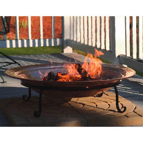large wood burning pit 36 quot large copper pit woodlanddirect outdoor