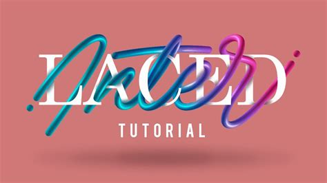 tutorial illustrator lettering interlaced lettering tutorial adobe photoshop