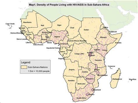 map of sub saharan africa 1 evaluating hiv aids programs