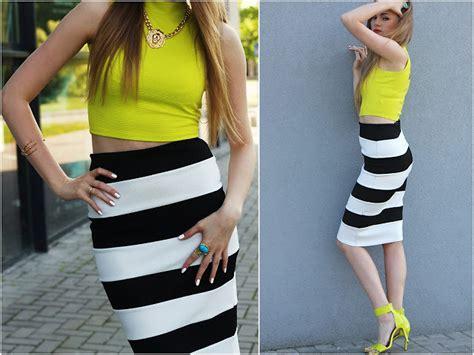 Stripe Norra Skirt Rok katarzyna k river island top river island skirt back