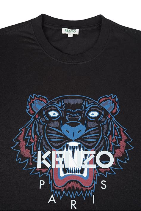 Tiger Print T Shirt kenzo kenzo tiger print tshirt black kenzo from circle