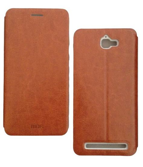 Flip Cover Leather Premium Onetouch Flash Plus For Alcatel mofi vintage leather with back flip cover for alcatel one touch flash 6042d brown available