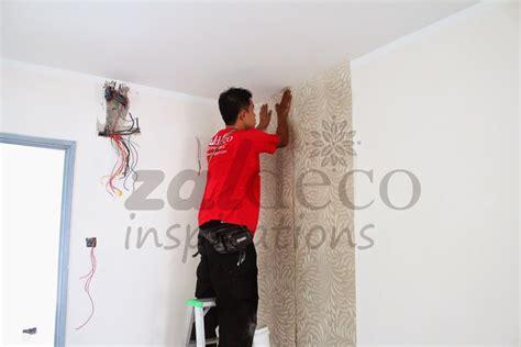 kertas dinding zaldeco zaldeco pemasangan kertas dinding zaldeco di puchong prima