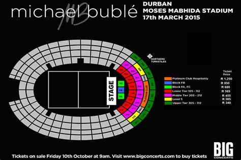 Make A Floorplan michael buble live at mmstadium moses mabhida stadium