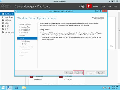 install windows 10 via wsus step by step installing configuring wsus in server