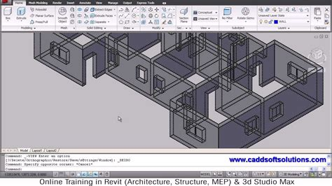 Autocad 3d House Plans Autocad 3d House Modeling Tutorial 3 3d Home 3d