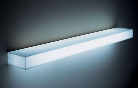 Lighted Wall Shelf illuminated wall shelving modern design by moderndesign org