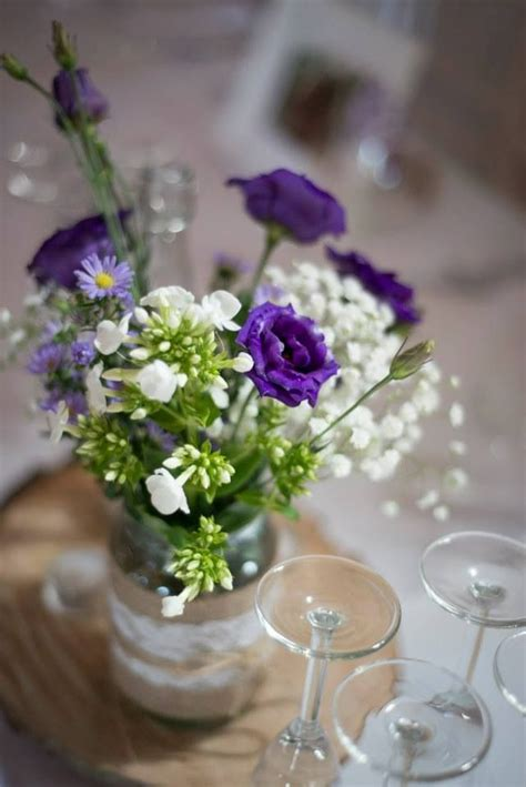 jam jar flowers pretty wedding flowers decor pinterest