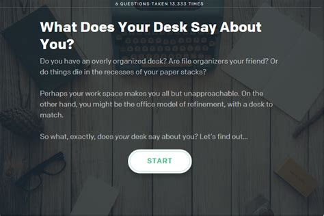 interactive quiz what does your desk say about you hppy