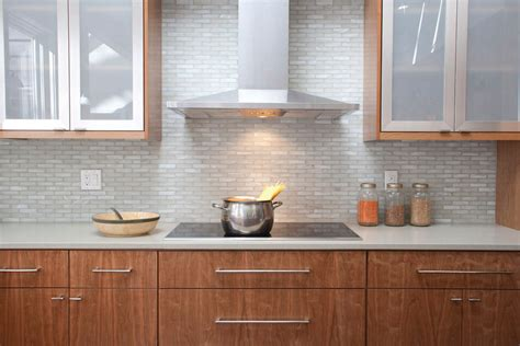 Kitchen Subway Tile Backsplashes iridescent tile backsplash bathroom contemporary with