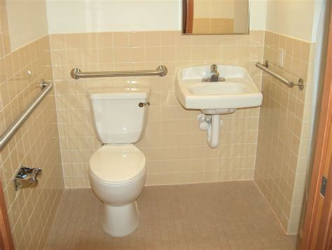 how many handicap bathrooms are required correct size of ada sink height in bathroom for a handicap