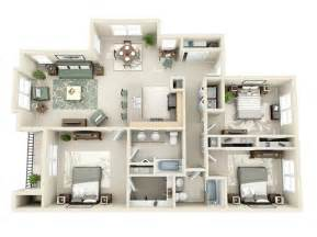 Apartment 3 Bedroom 3 Bedroom Apartment House Plans