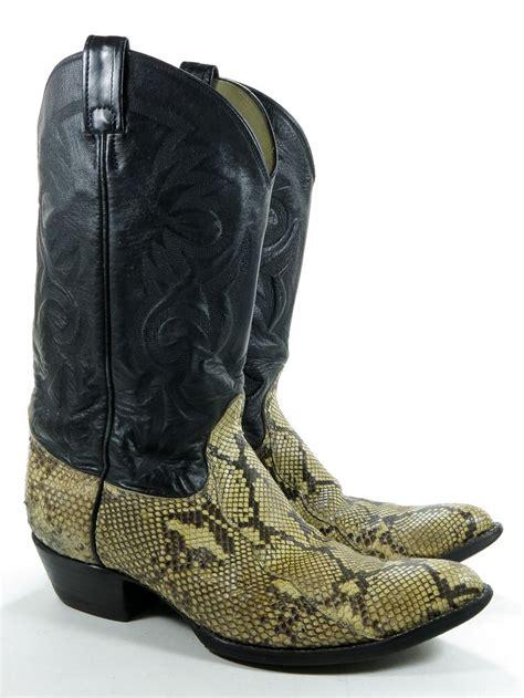 mens rattlesnake skin boots remington 12 d mens cowboy boots black leather diamondback