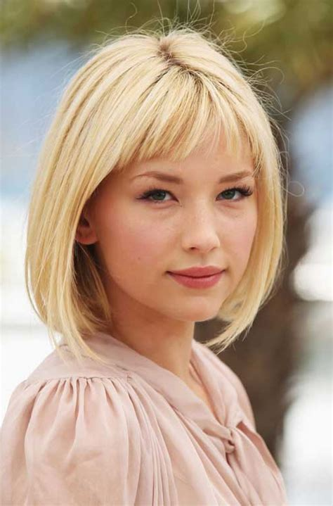 hairstyles blonde with fringe nice short bob hairstyles hair ideas pinterest