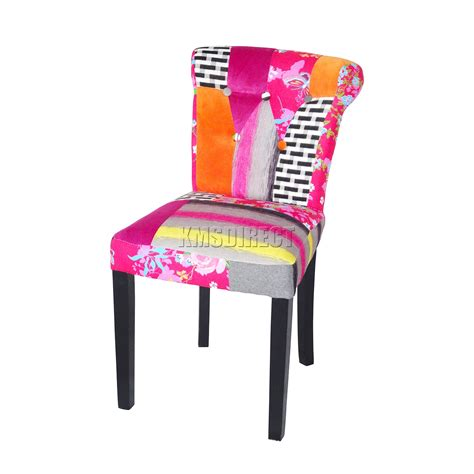 Patchwork Chairs Uk - foxhunter patchwork chair fabric vintage dining room seat