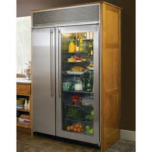 Home Refrigerator With Glass Door Vikings I And Food On