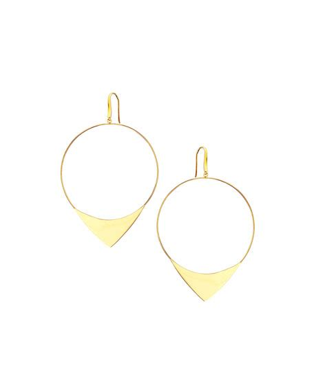 Hoops H 2002 Black List Yellow 14k large elite hoop earrings neiman