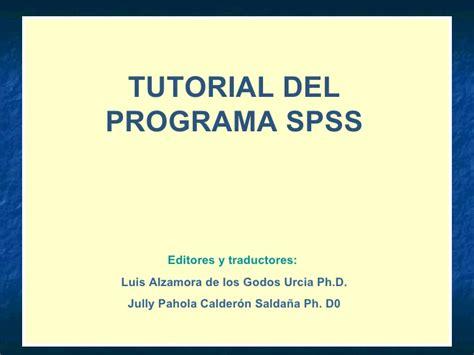 tutorial spss ppt tutorial spss