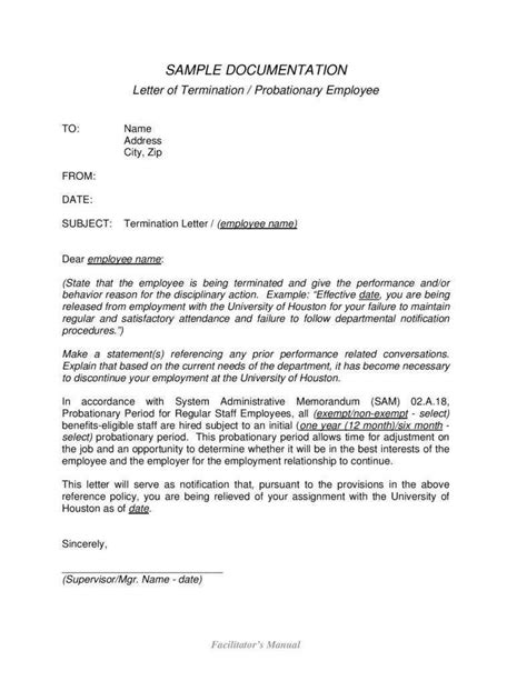 employment termination letters word excel