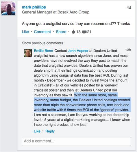 Craigslist Posting For Auto Dealers Dealers United Craigslist Car Posting Template