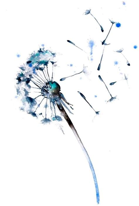 watercolor dandelion tattoo 25 best ideas about watercolor dandelion on
