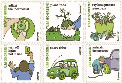 gilley s stories green living easy ways to go green at the usps s new go green sts will have you seeing red