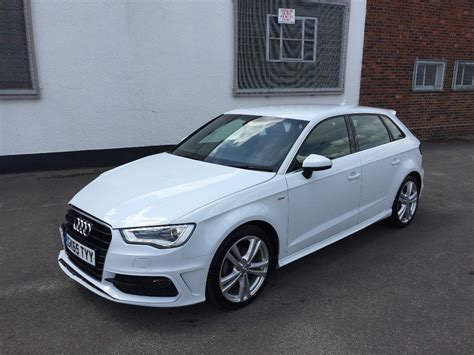 A3 Audi 2015 by 2015 65 Audi A3 S Line 2 0 Tdi S Auto 5 Door White Damaged