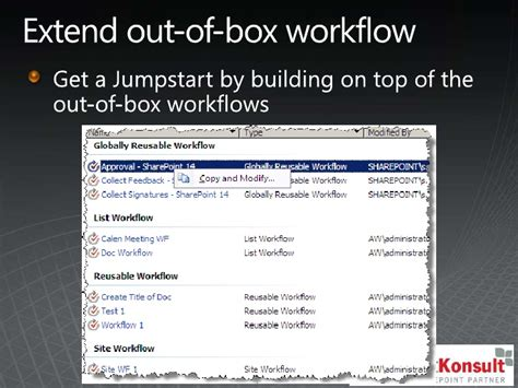 sharepoint out of the box workflows overview creating workflows with visio infopath and