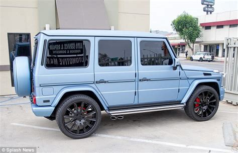 light pink mercedes jenner switches mercedes g wagon from bright
