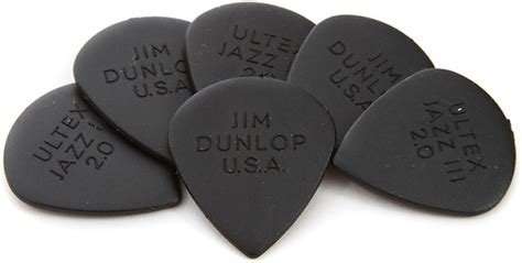 Dunlop Ultex Jazz Iii 2 0mm Original Eceran dunlop 427p2 0 ultex jazz 2 0mm guitar picks 6 pack reverb