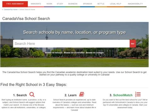 canadavisa unveils the new school search canada study