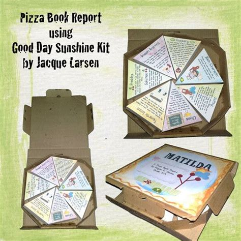 science book report pizza box book report projects students will