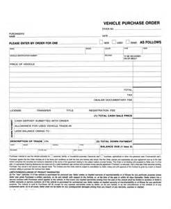 Car Purchase Order Letter Vehicle Purchase Agreement Letter Printable Sle Vehicle Bill Of Sale Template Form Printable