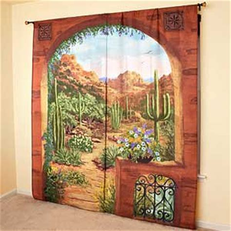 scenic curtains outdoor scenic view curtains desert garden