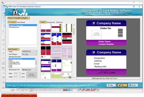 visitor card template software screenshots of gate pass id cards maker to create visitors