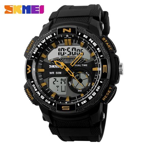 Skmei Jam Tangan Digital Analog Pria Ad1157 Black T3010 2 skmei jam tangan analog digital pria ad1109 black yellow jakartanotebook