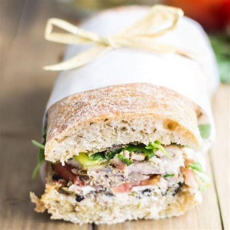 the best picnic sandwich ever made with roast chicken olive tapenade goat cheese sweet