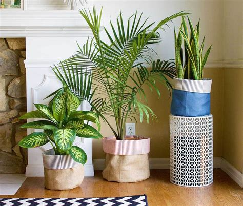 Planters Fabric by Diy Fabric Planters How To Decorate Flower Pots Fiskars