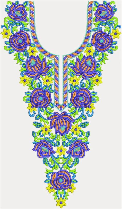 pattern neck designs embdesigntube buy online neck embroidery designs